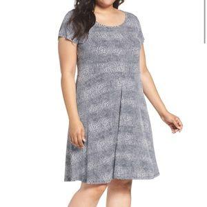 Michaels Kors Zephyr Print Fit & Flare Dress 2X